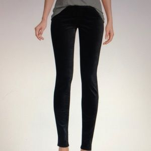 NWT AG super skinny velvet black leggings